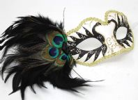 Black and Gold Peacock Mask